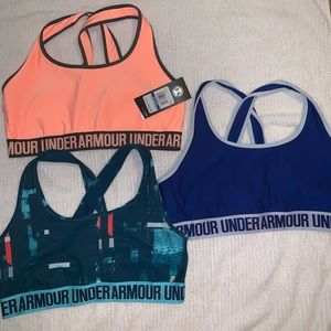 Under Armour mid impact sports bras x 3. Size XL